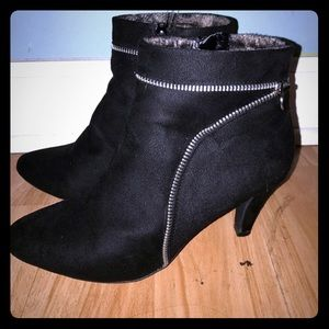 Shoes - Black Ankle Booties, Size 7.5